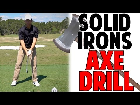 Best Golf Tip To Strike Irons Solid | Axe Drill