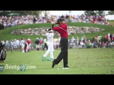 Tiger Woods Golf Swing (Side and Back) @ 2009 US PGA