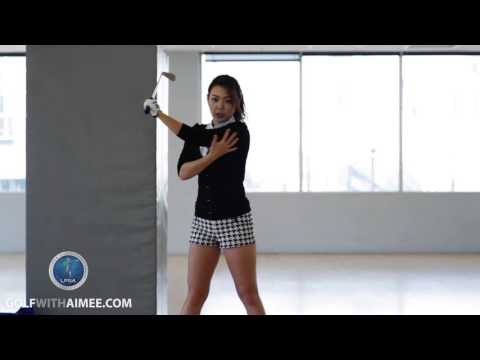 [Golf with Aimee] Aimee's Golf Lesson 021: Power Down Swing