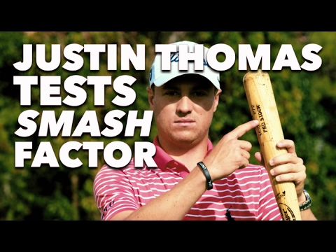 Justin Thomas Crushes a 250 Yard Drive With a Mini Golf Putter | Golf Digest