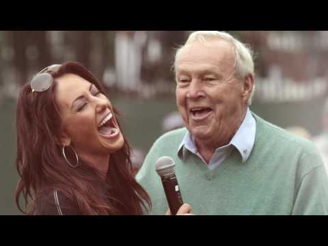"Holly Sonders on Arnie: ""You were looking at a legend"""