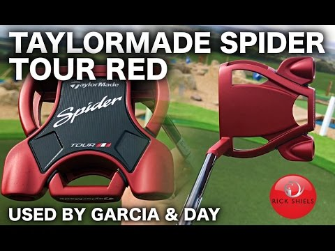 TAYLORMADE SPIDER TOUR RED PUTTER AS USED BY SERGIO GARCIA & JASON DAY