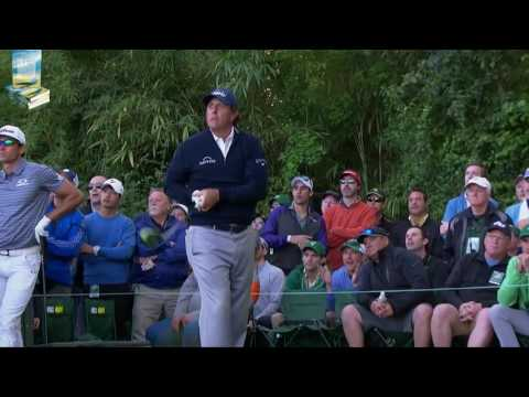 Phil Mickelson's Great Golf Shot Highlights 2017 Masters Tournament Augusta
