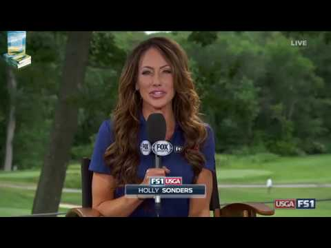 Very Disappointing Holly Sonders Golf Announcer Compilation 2017 US Senior Open USGA