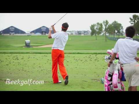 Ryo Ishikawa Golf Swing (Side and Back) @ 2009 US PGA