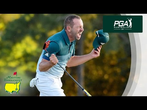 Sergio Garcia Winning Putt at the Masters Tournament 2017