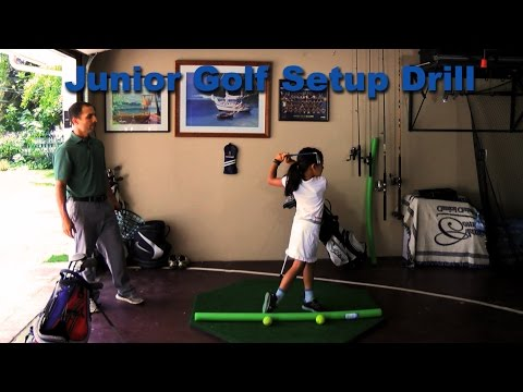 Junior Golf Setup Drill