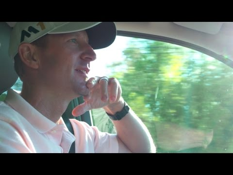 Driving with Vaughn Taylor to the gates of Augusta National