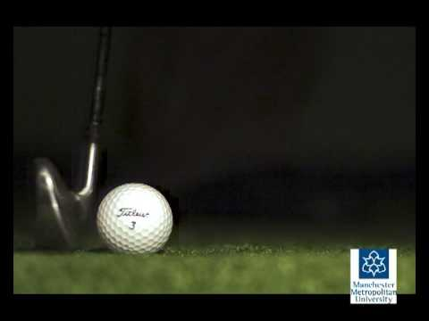 Golf impacts – Slow motion video