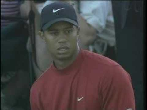 Tiger Woods – masters shot on 16th hole 2005 in Augusta.