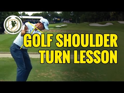 Golf Tips – Shoulder Turn Lesson With Video Swing Analysis