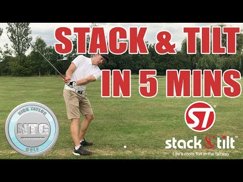 5 mins on the Stack & Tilt golf swing| Golf Tips | Lesson 54
