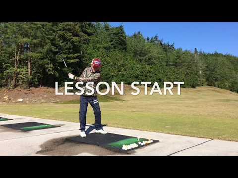 relaxed swing golf lesson リラックススイングでボールを飛ばす。