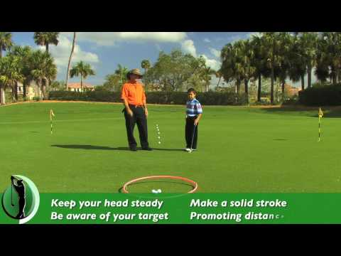 Junior Golf – Putting: Practicing distance control with a Hoola Hoop