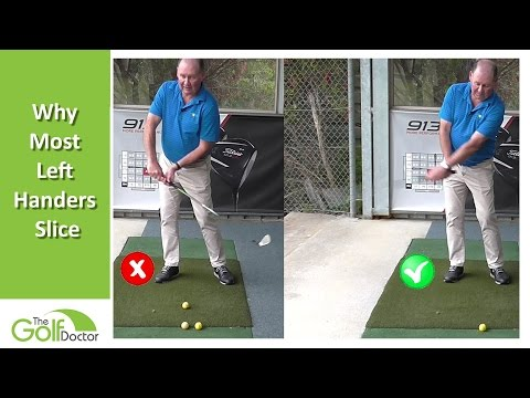 Left Handed Golf Tip | Why Most Left Handed Golfers Slice