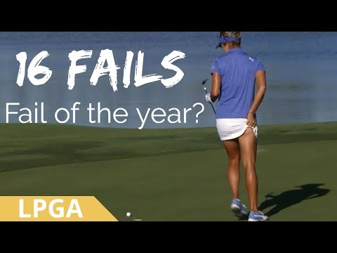 REALLY MAKING A MESS! 16 Golf Shot Fails 2017 CME Group Tour Championship LPGA Tournament