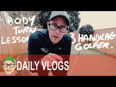 3 HANDICAP BODY TURN GOLF LESSON