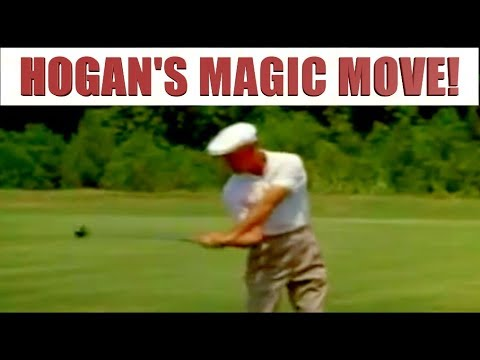BEN HOGAN SECRET FOR DRIVING THE BALL STRAIGHT!