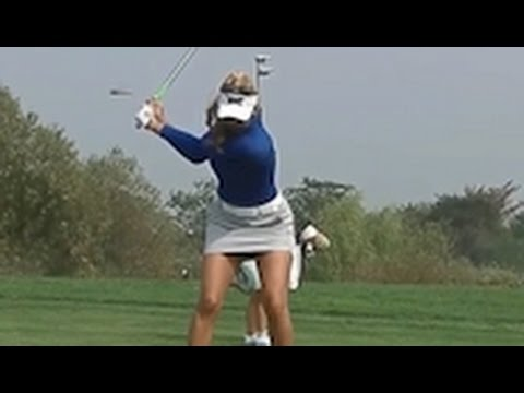 Alison Lee Golf Swing Lag Super Slow Motion 2016