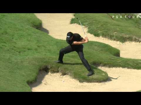 Phil Mickelson   bunker Shot    US PGA 2015