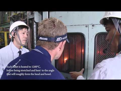 Luke Donald visits Mizuno's iron forging factory in Hiroshima Japan