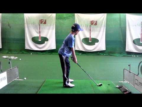 Junior Golf Swing 8Years Old Korean Boy(Side)
