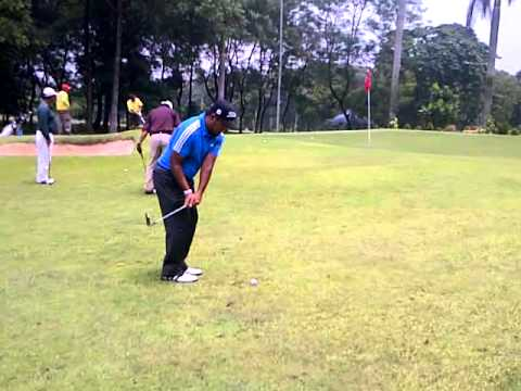 me chipping @18th hole Halim 1 golf course