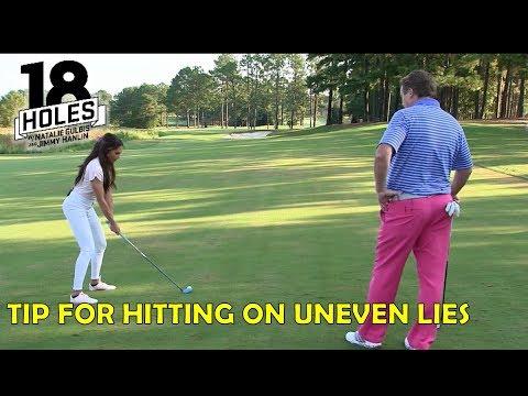 Golf Tip: Hitting on uneven lies