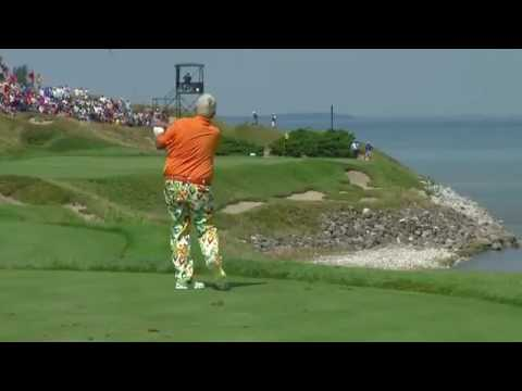 John Daly throws club into lake, kid in boat retrieves US PGA 2015