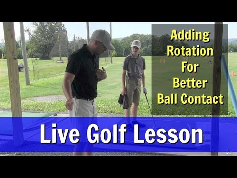 GOLF: Live Golf Lesson: Adding Rotation For Better Ball Contact
