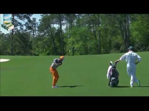 Rickie Fowler's Great Golf Shot Highlights 2017 Masters Tournament Augusta