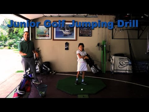 Jumping Golf Drill for Junior Golfers