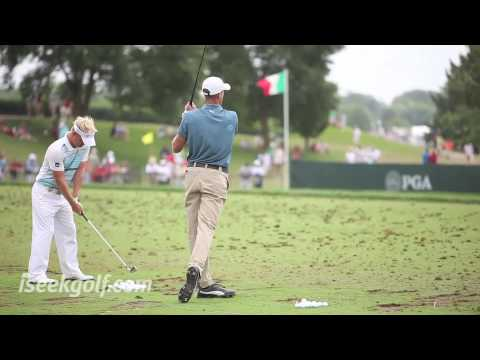 Geoff Ogilvy Swing (Side and Back) @ 2009 US PGA