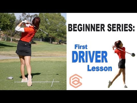 BEGINNER SERIES 007: First Driver Lesson | Golf with Aimee