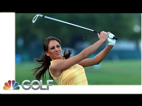 Holly Sonders laughs off awkward slip of the tongue on live TV | by Golf News