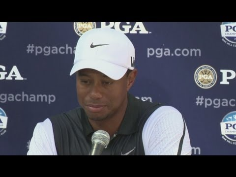 Tiger Woods reaction from US PGA Golf Championship