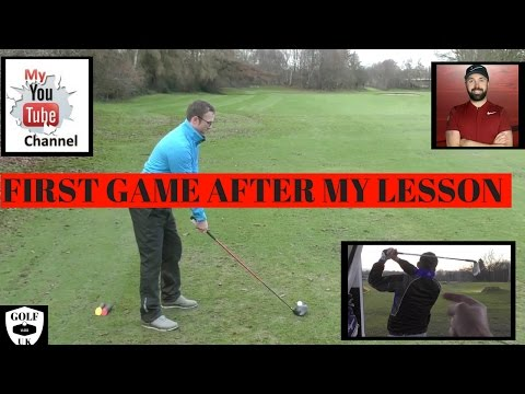 MY FIRST GOLF ROUND AFTER  MY GOLF LESSON WITH RICK SHIELS