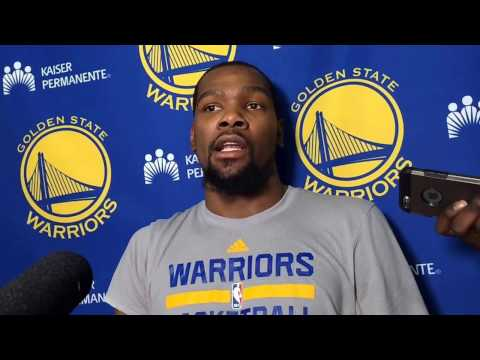 "Durant on Cavs rivalry: ""I'm new here, but…a group of players that are familiar with each other"""