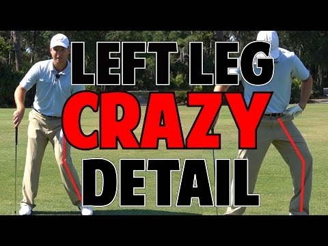POWERFUL GOLF SWING LESSON   The Left Leg In Crazy Detail