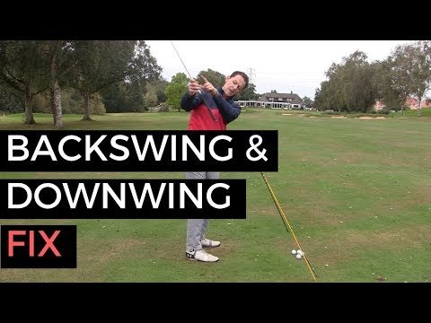 GOLF BACKSWING AND DOWNSWING DRILL