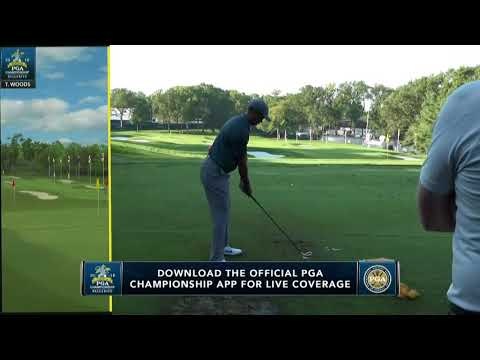 Tiger Woods goes long on the range | 2018 PGA Championship