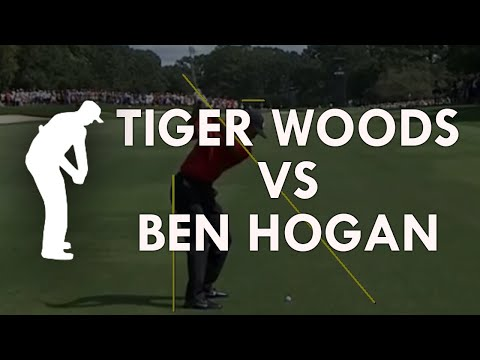 Tiger Woods vs Ben Hogan. Their Pivot numbers and degrees.