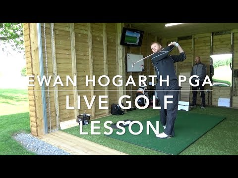 Live golf lesson with a PGA professional