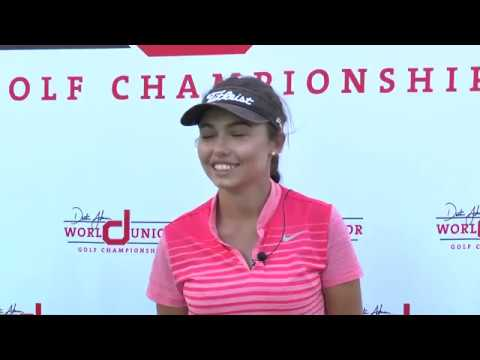 Alexa Pano 2018 Dustin Johnson World Junior Golf Championship Girls Winner