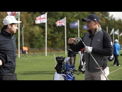 Mizuno on the range with Eddie Pepperell