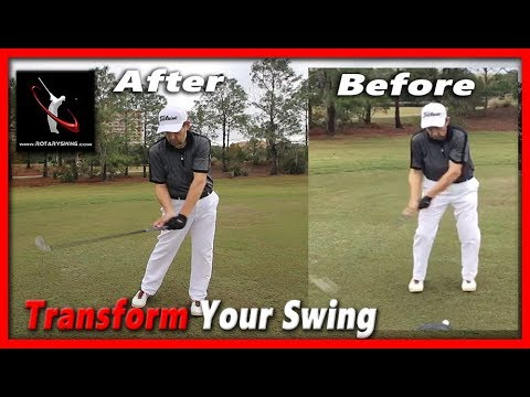 Golfer Learns to Swing Like a Pro in 2 Hour Golf Lesson – RotarySwing RoadShow Lesson 7