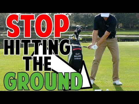 Golf Lessons   Stop Hitting the Ground Before the Ball