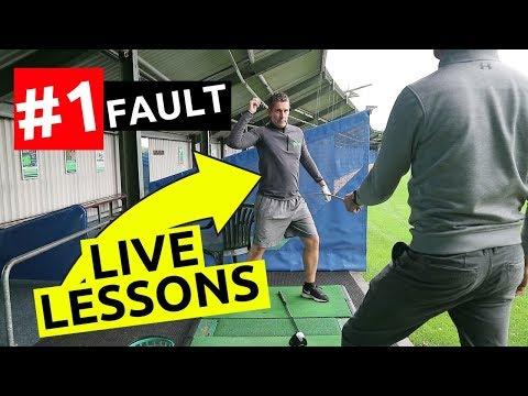 LIVE golf lesson highlights MOST COMMON amateur problem