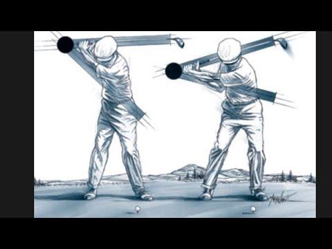 벤호건 원플레인 슬롯 골프스윙 드릴(Ben Hogan right Elbow drill)