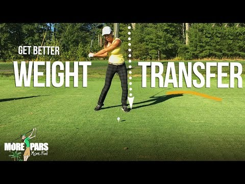 Get More Distance with Proper Weight Transfer